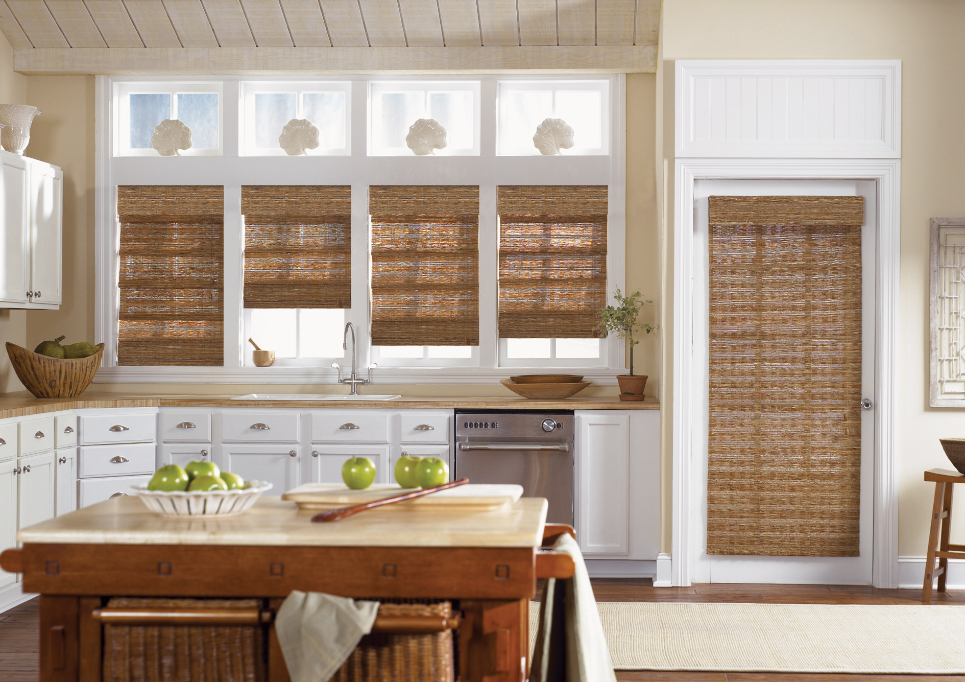Woven wood shades for small windows