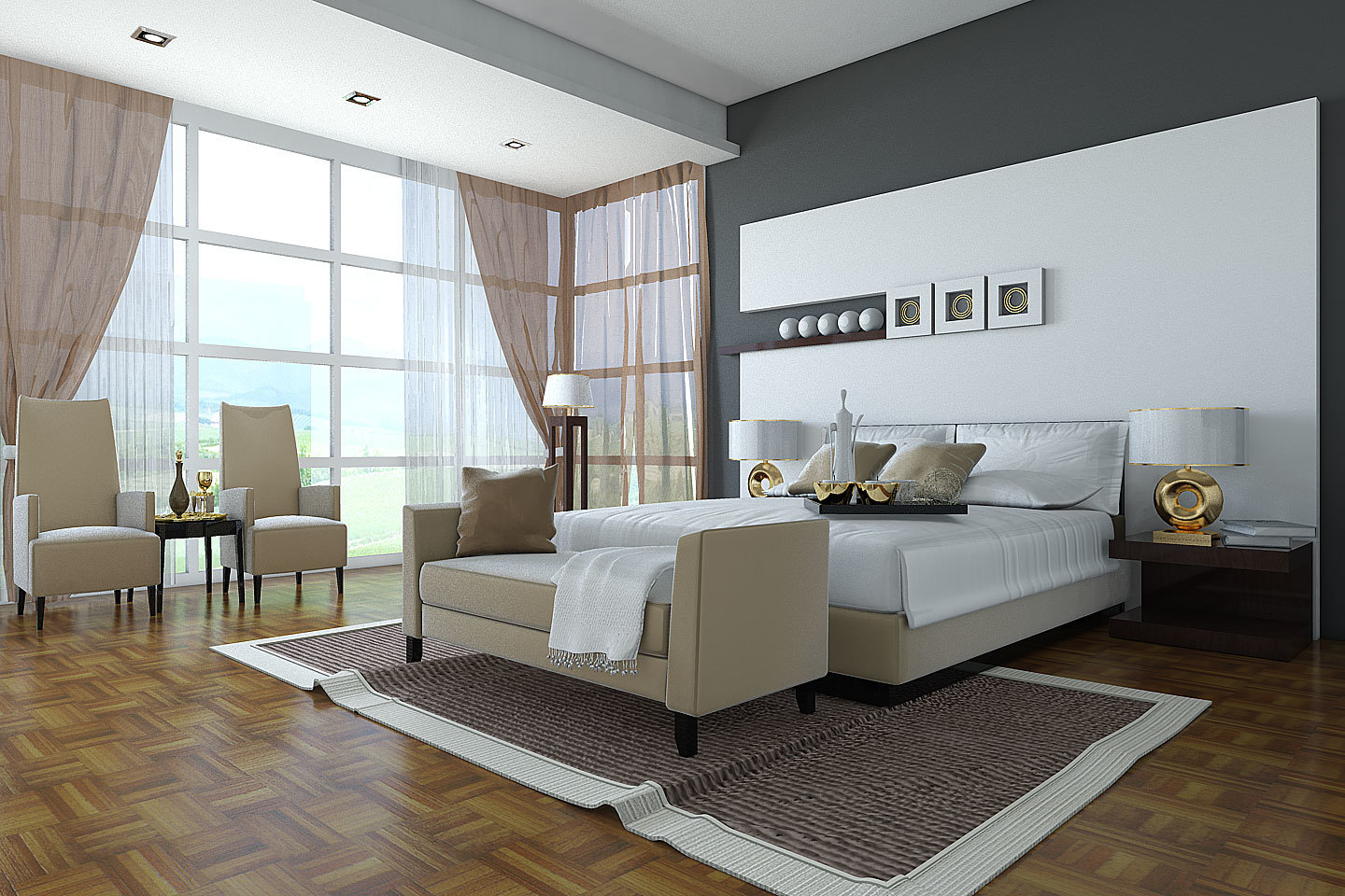 Comfortable Bedroom Seating Area