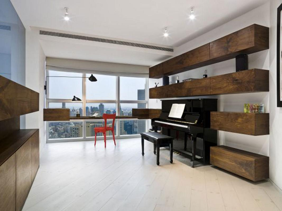 Making musical instruments become part of the interior design
