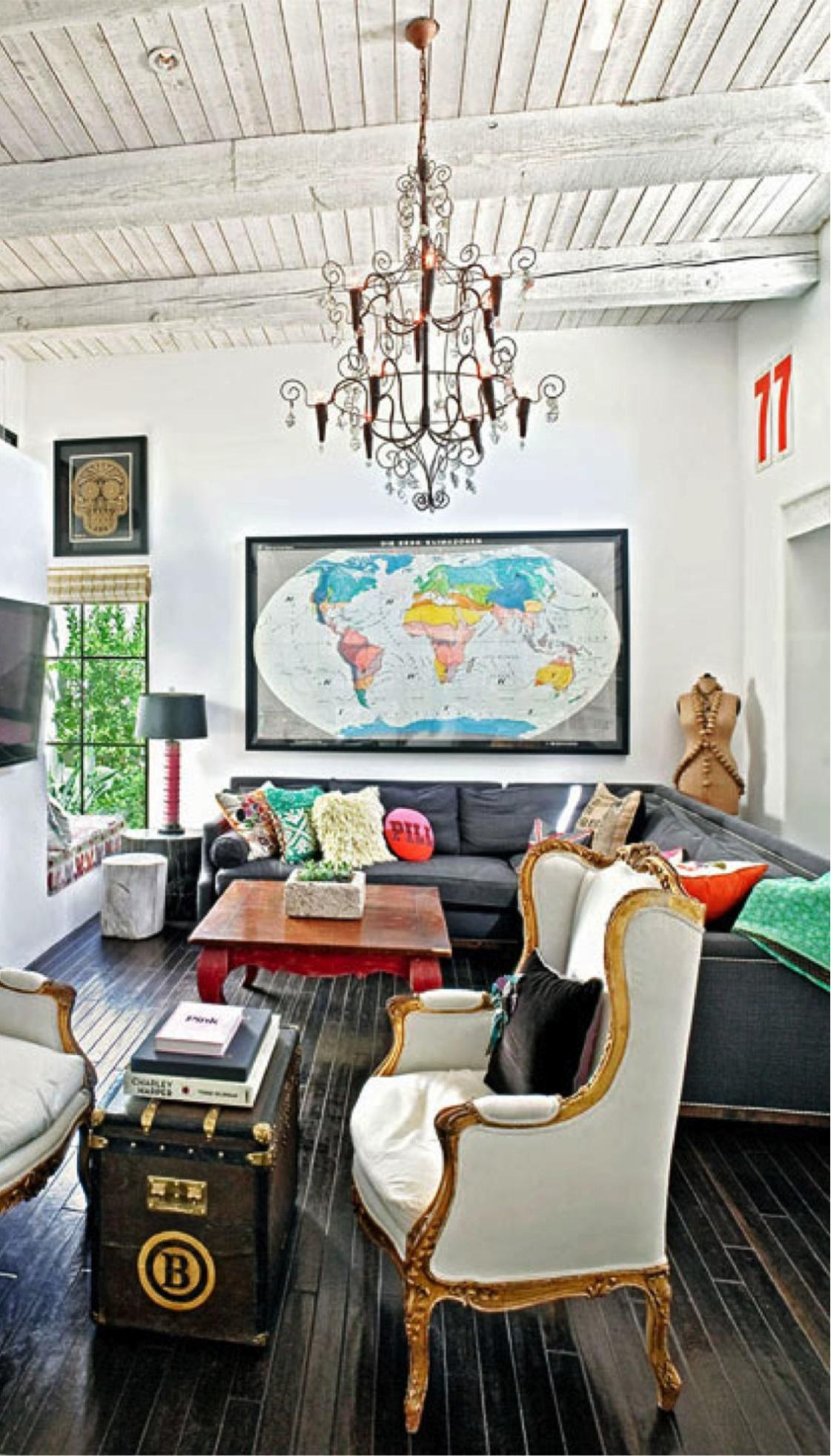 Eclectic Design eclectic décor: blending antique and modern items - interior