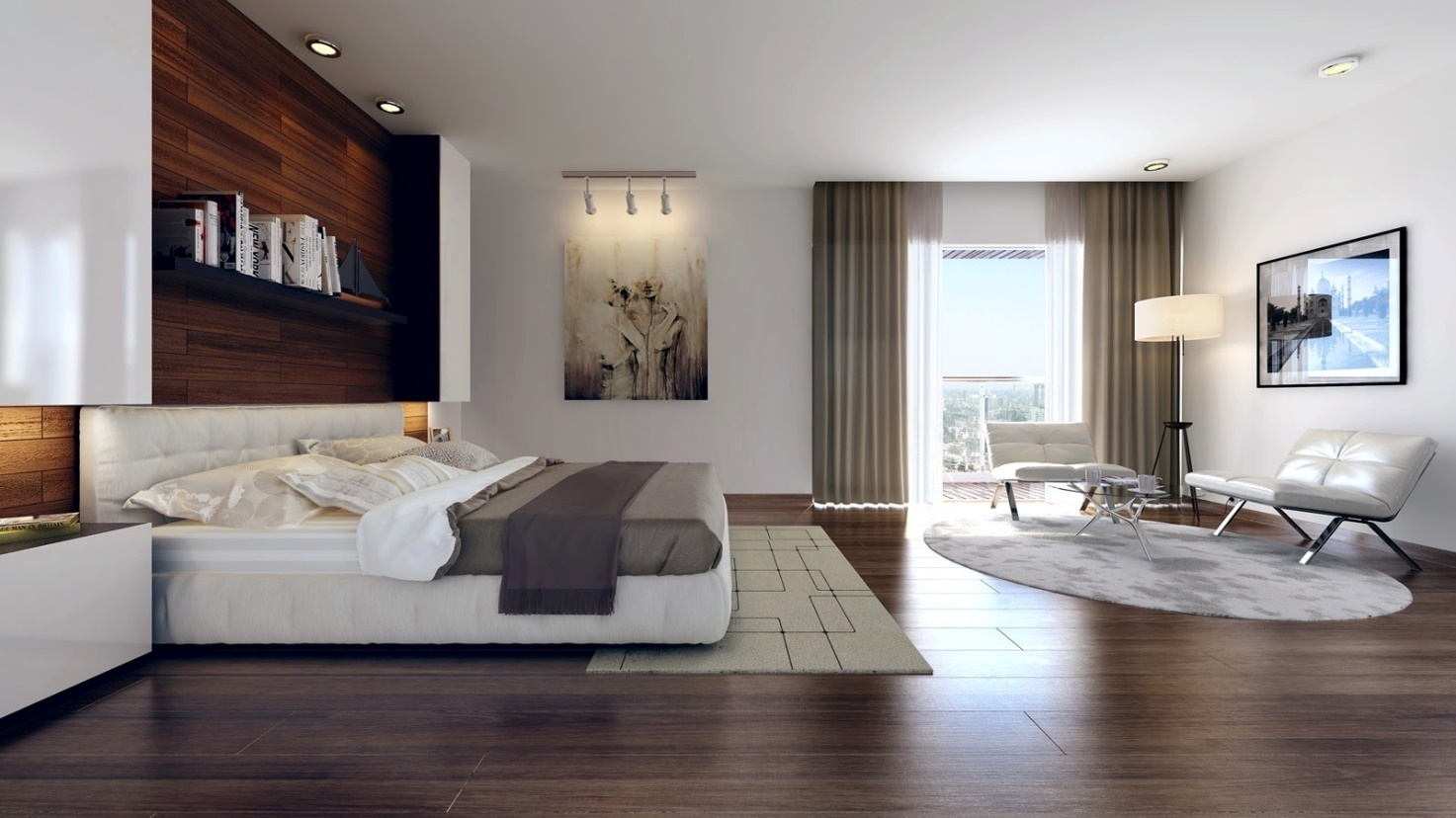 Sleek Modern Master Bedroom