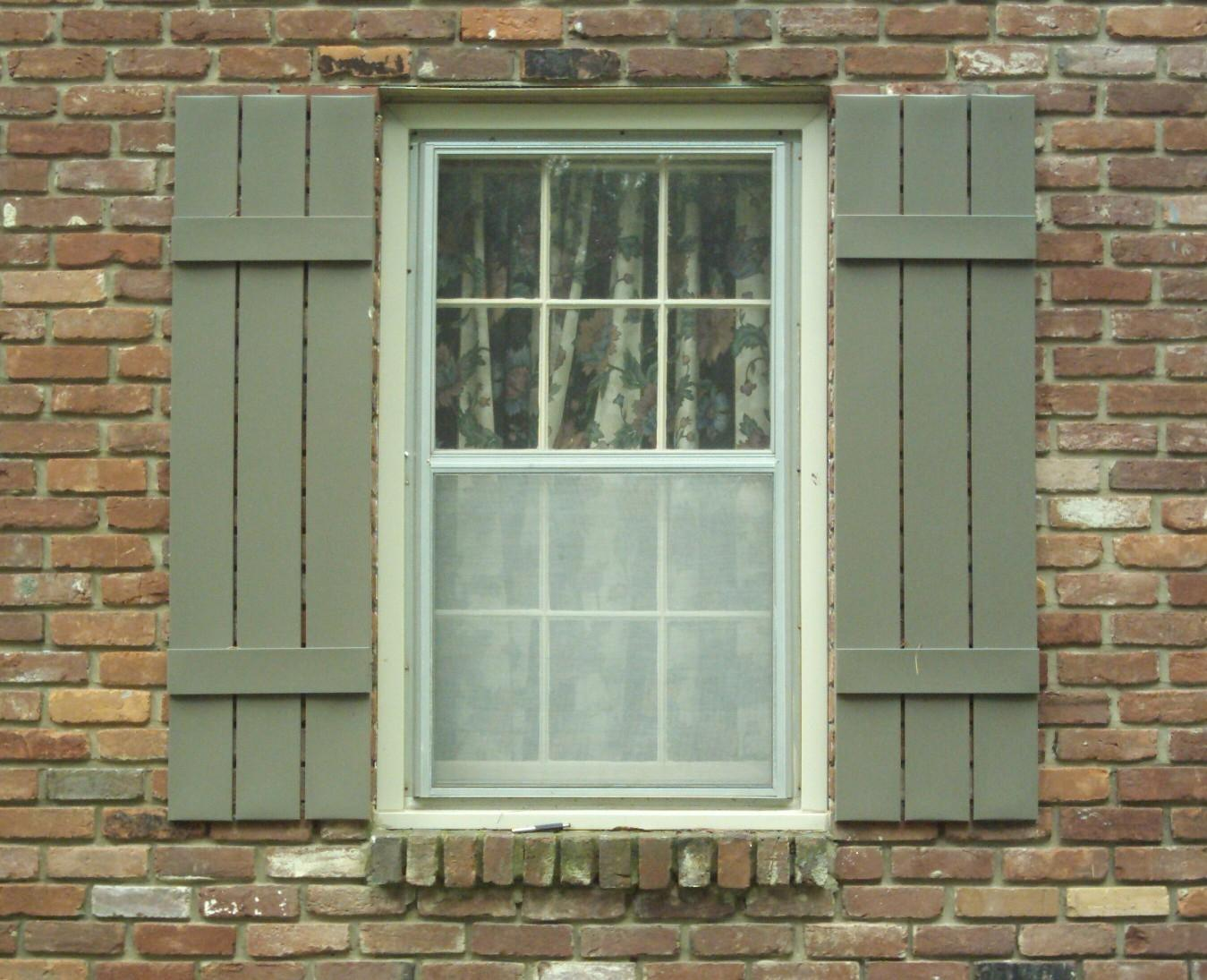 Wooden Window Shutters : Exterior shutters add value and increase the appeal of