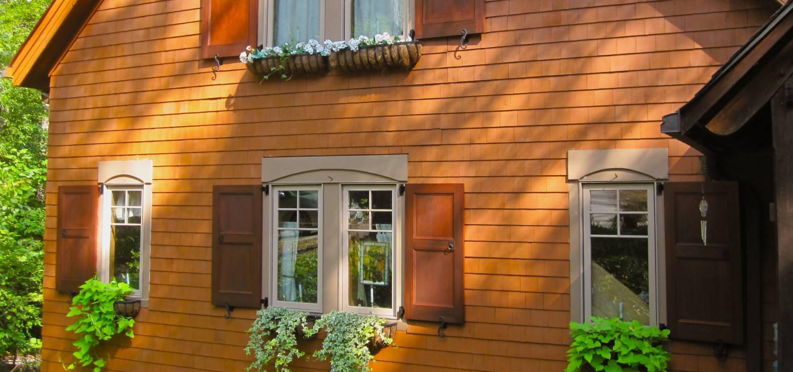 Exterior wood shutters