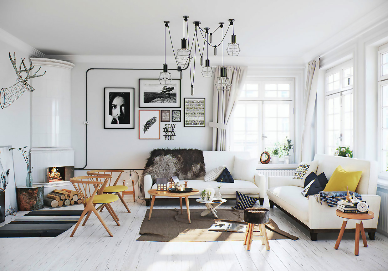 Scandinavian Living Room Décor