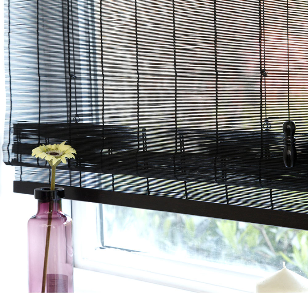 Black bamboo blinds