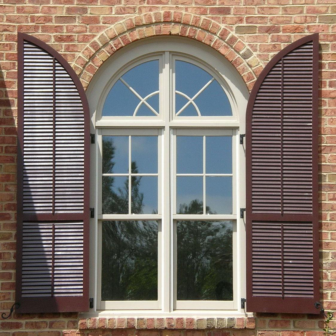 VIEW IN GALLERY Cool Exterior Window Shutter Styles For Arched Windows
