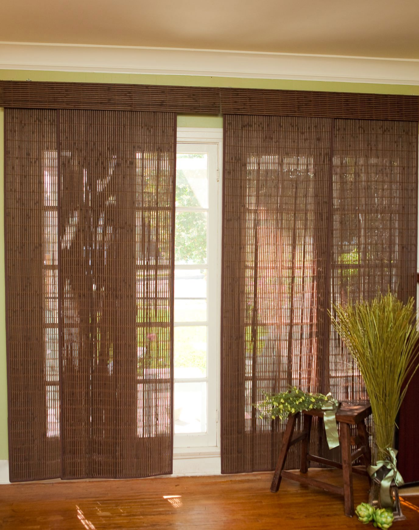 Vertical bamboo curtains - Bamboo Vertical Blinds