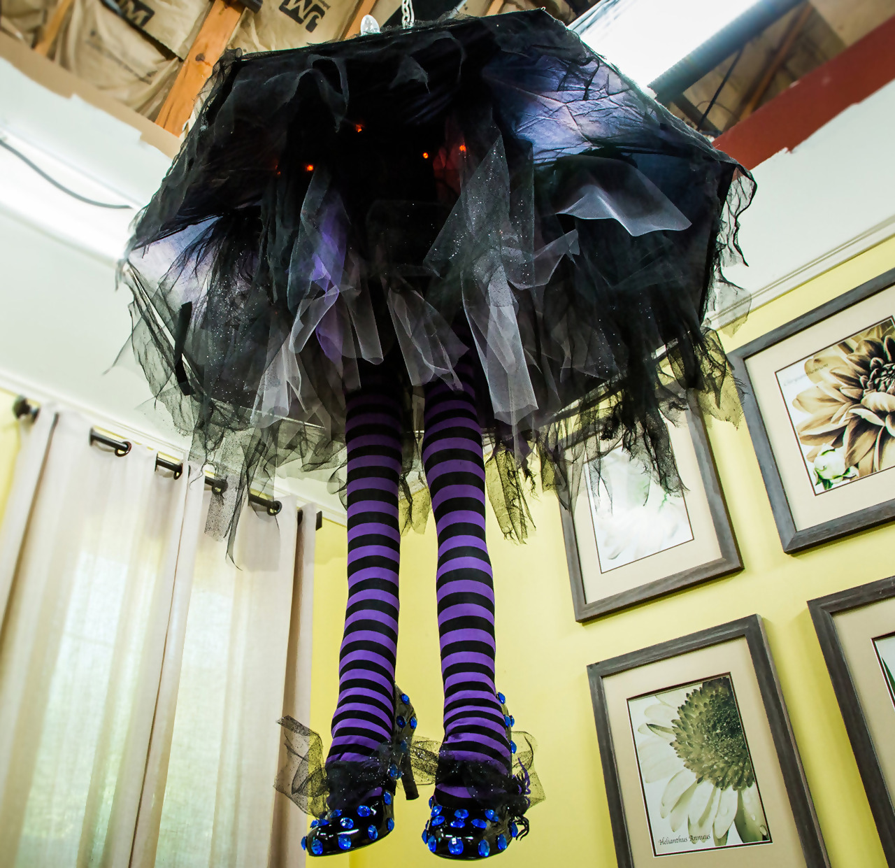 Use Eerie Witch Legs As A Chandelier