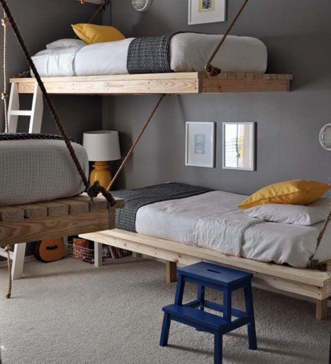 Add a college-chic feel by employing bunk beds in your teen's bedroom