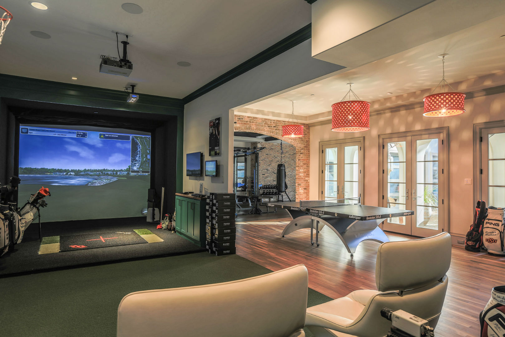 Home Gym With Open Concept Living