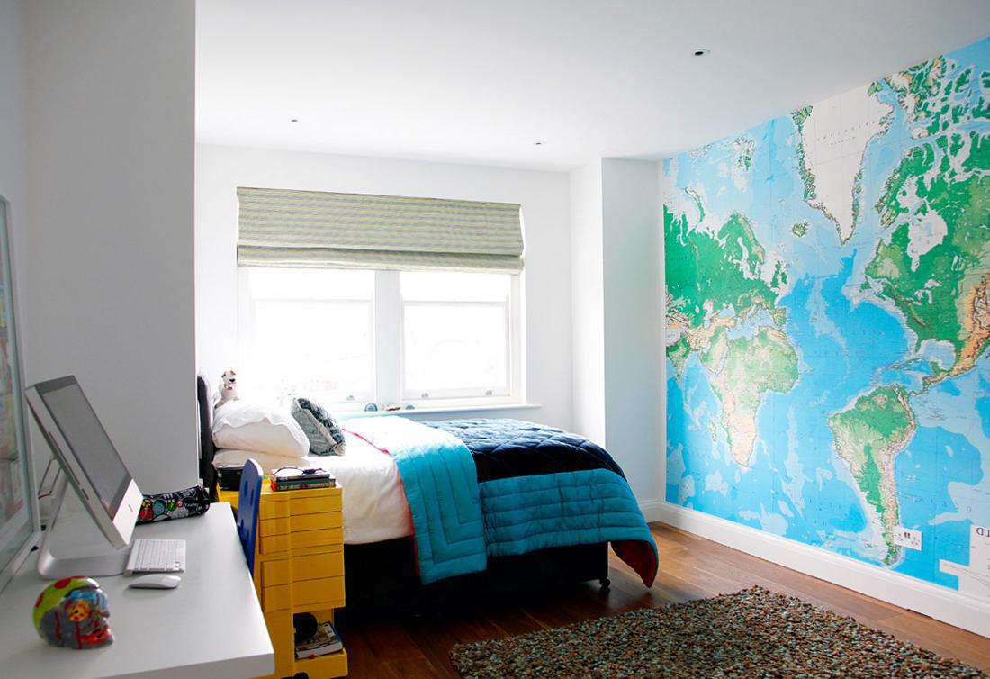 Using maps to create cool teen rooms