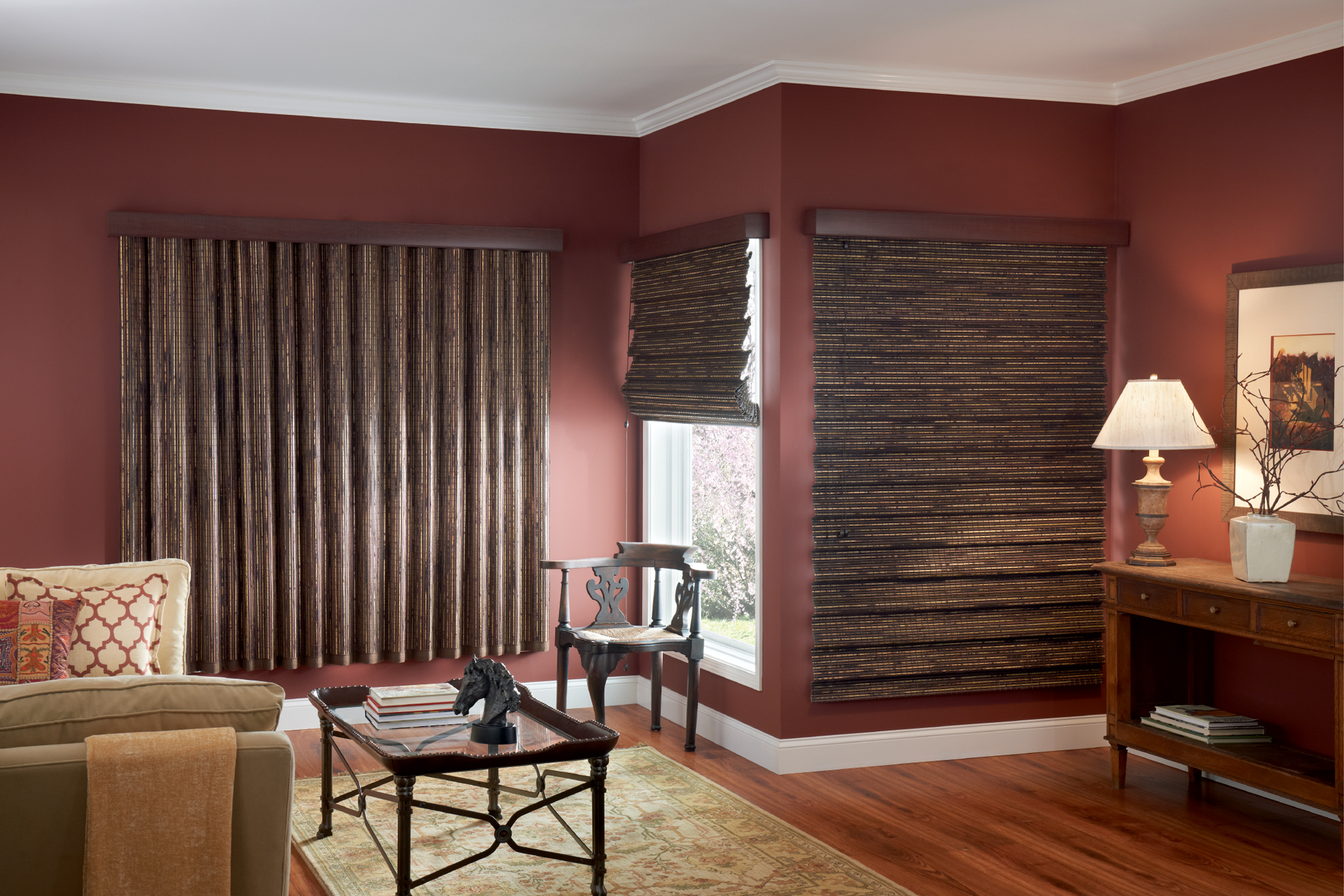Wooden Window Shades : Wood window treatments interior design explained