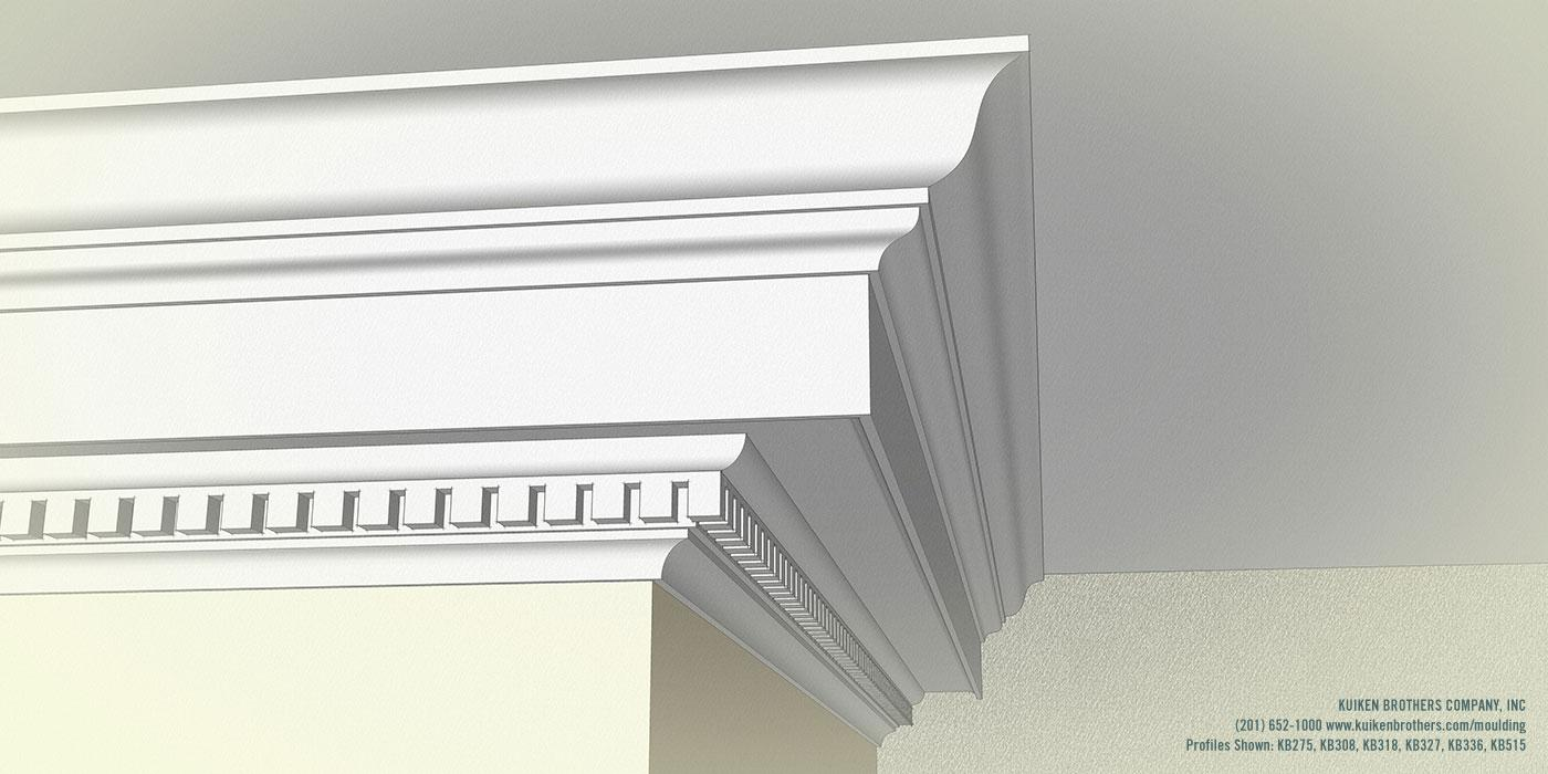 Beau Greek Crown Molding With Dentil Detail