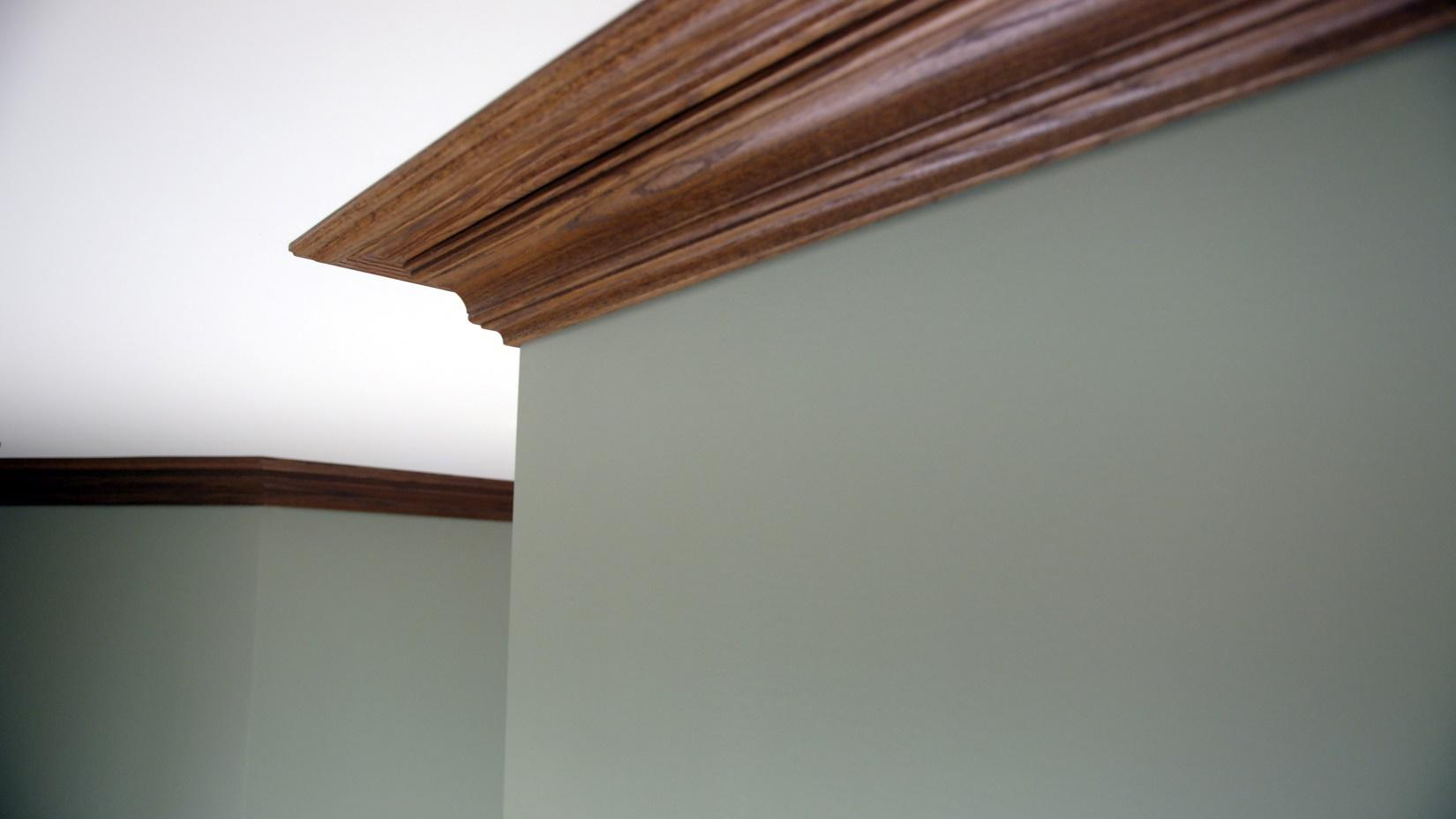 Oak crown molding
