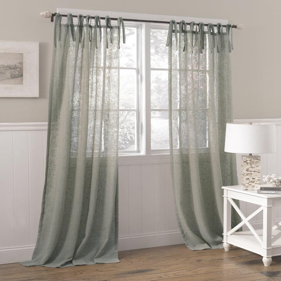 product overstock garden over shipping home free tie solid exclusive orders cotton fabrics top curtain on drapes