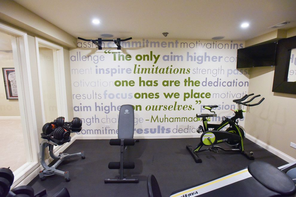 Motivational and Stylish Fitness Room Design