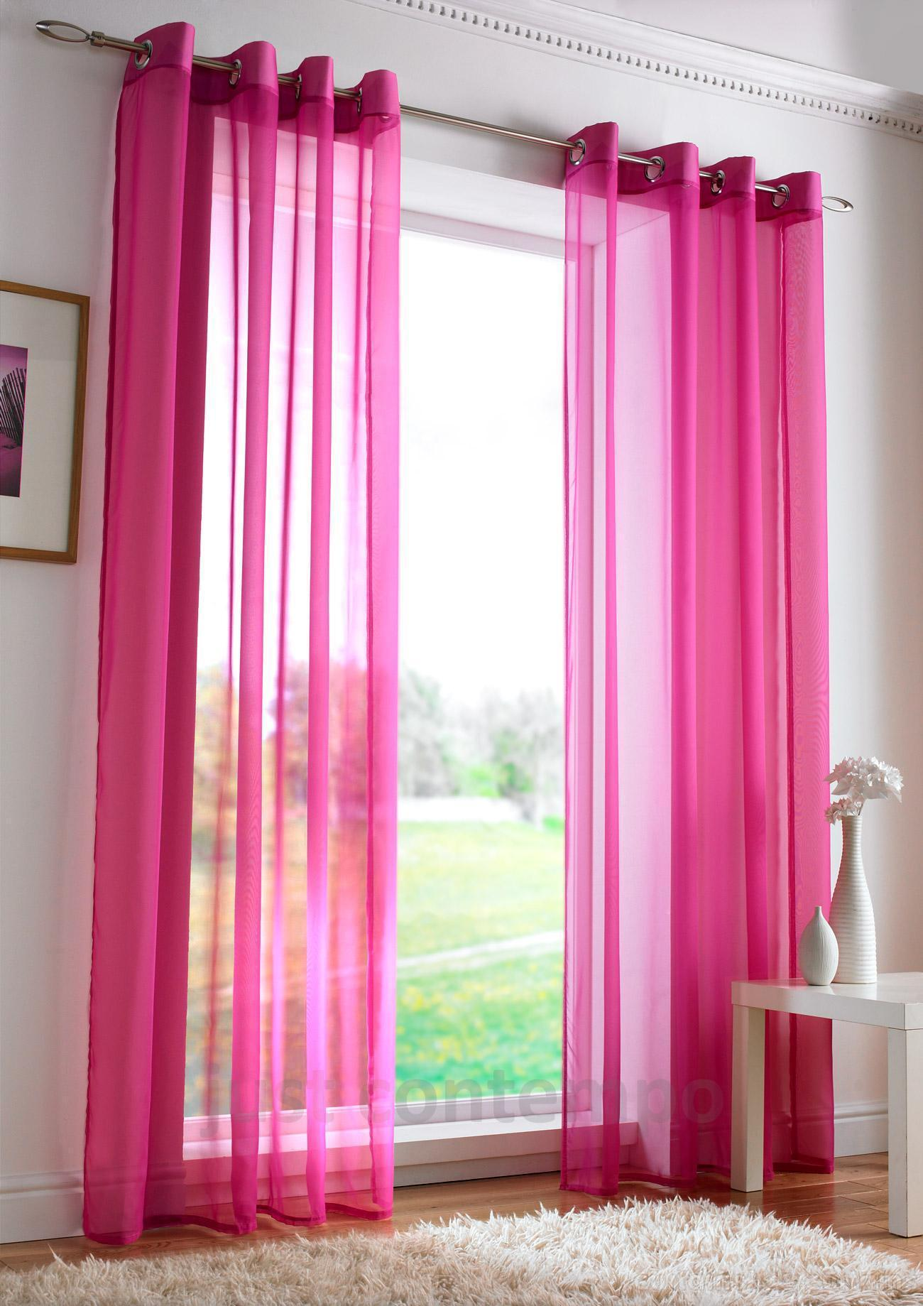 Pink sheer curtains