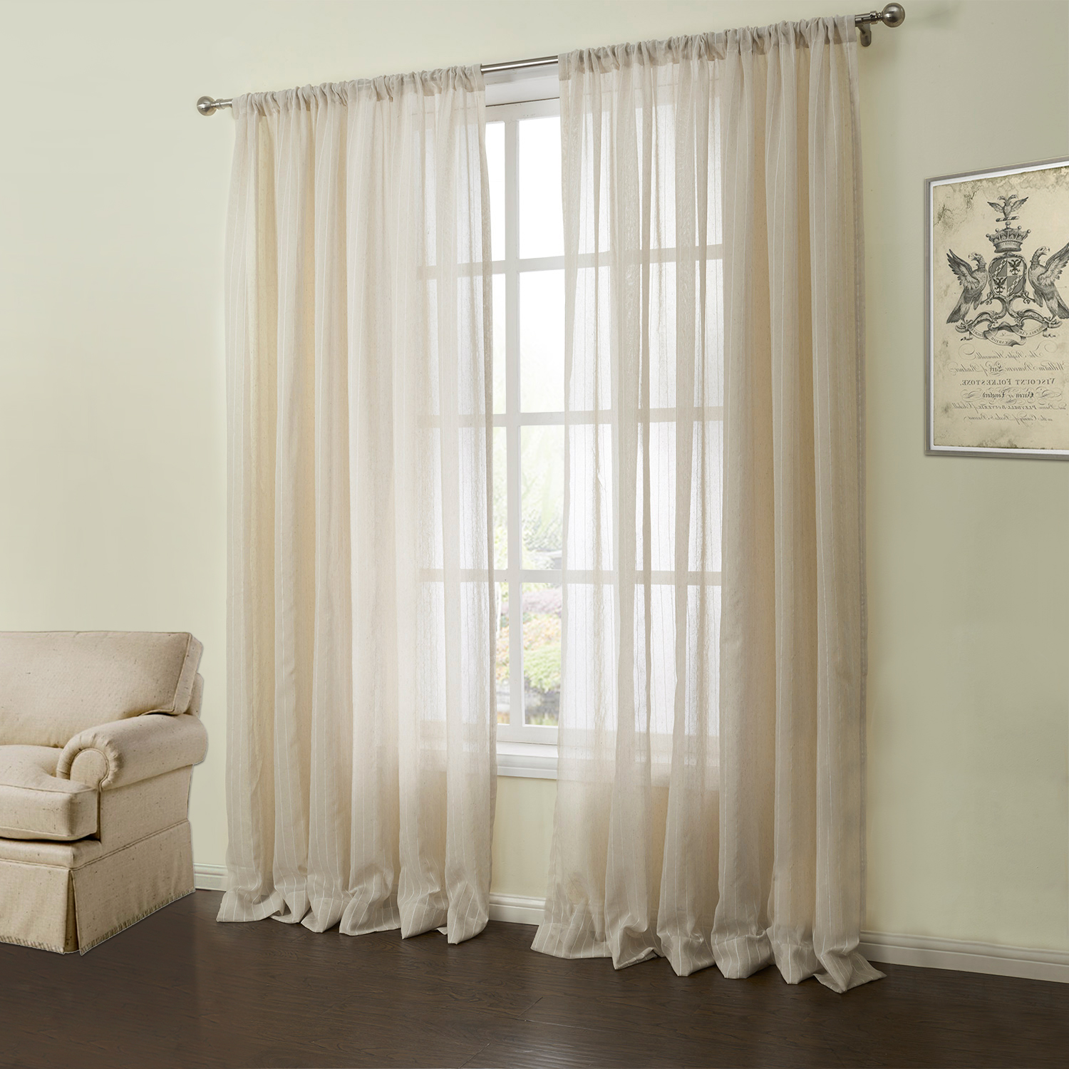 Luxury sheer curtains