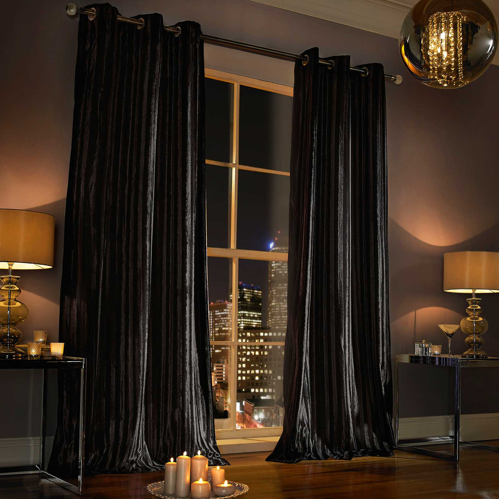 Luxury curtain panels