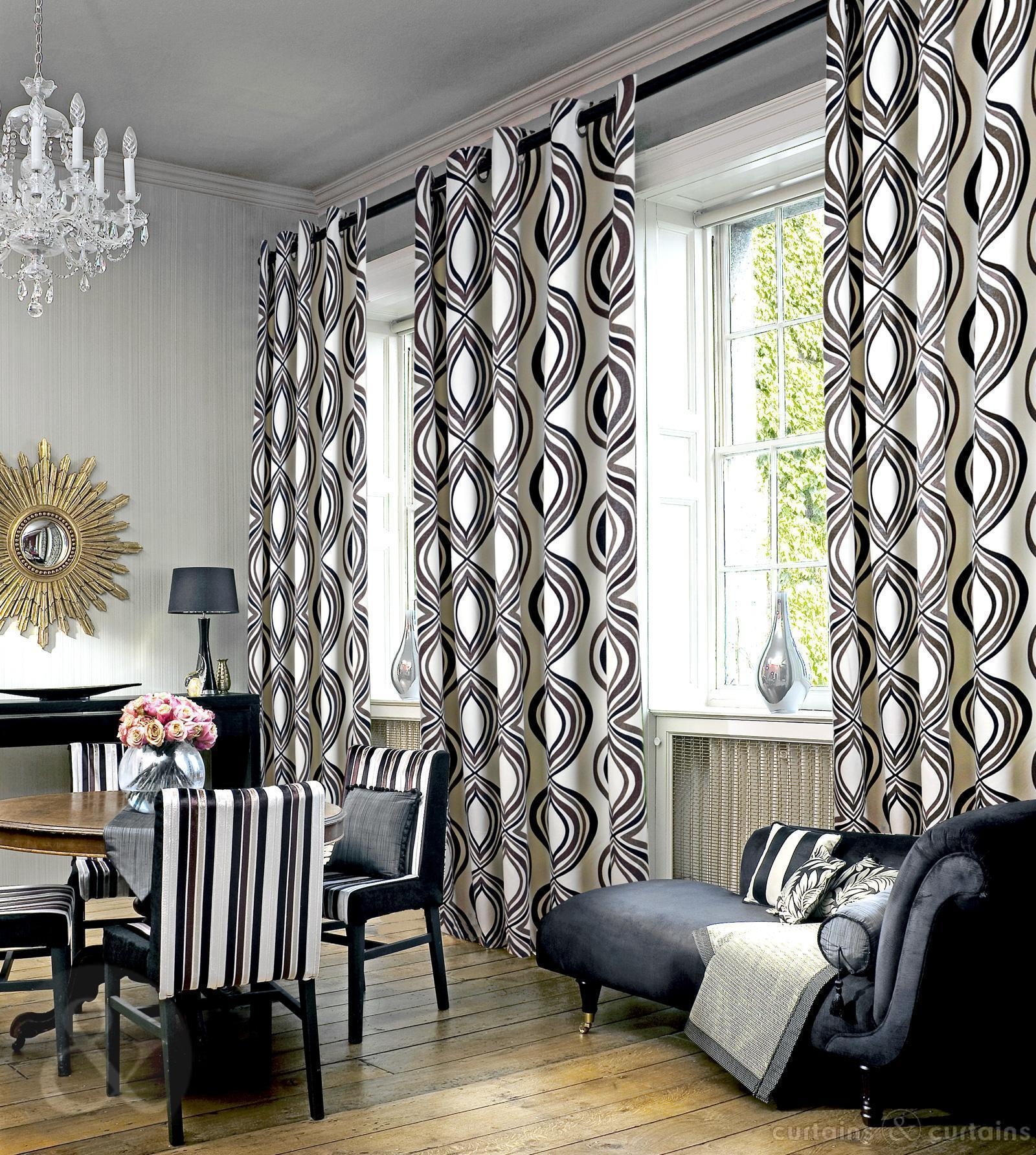 Luxury window treatments interior design explained for Modern living room curtains uk