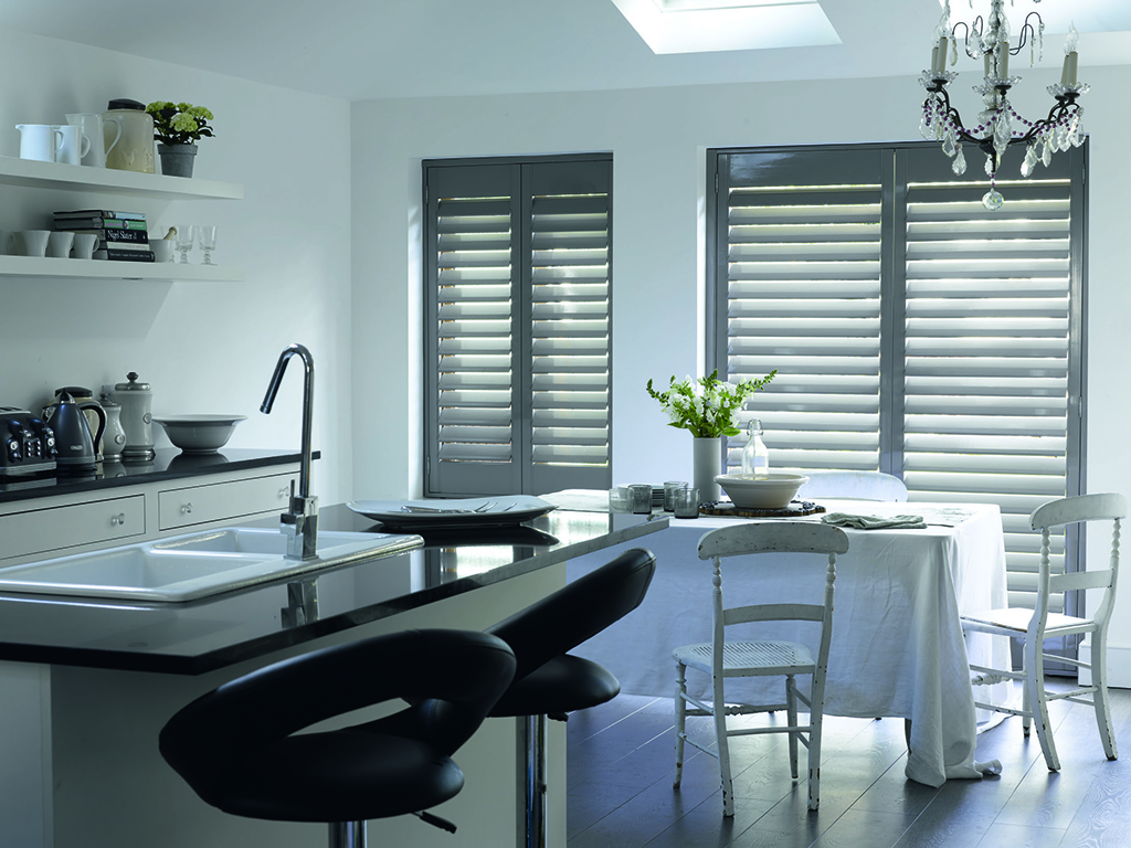 Shutters for kitchen windows