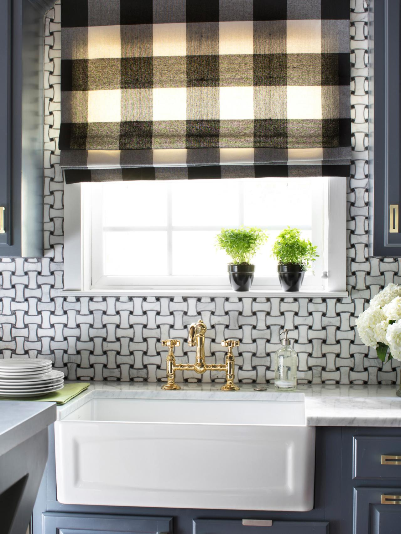 Black And White Shades For Kitchen