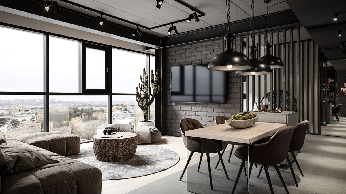 Industrial Contemporary Interior Design