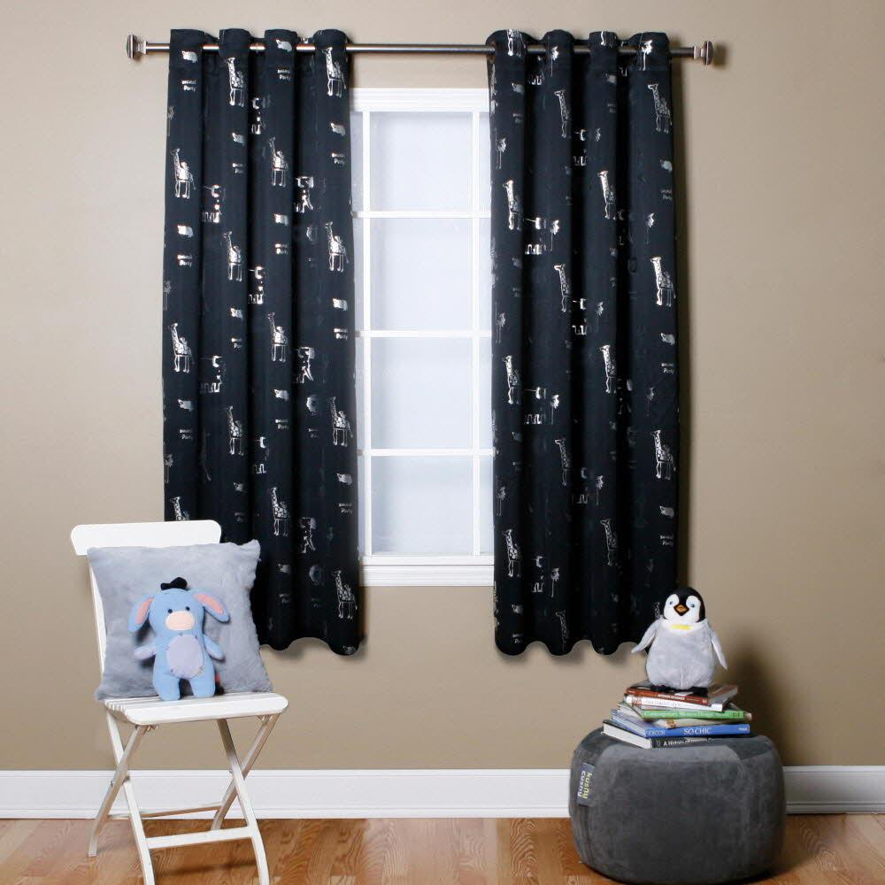 Short blackout curtains for small windows