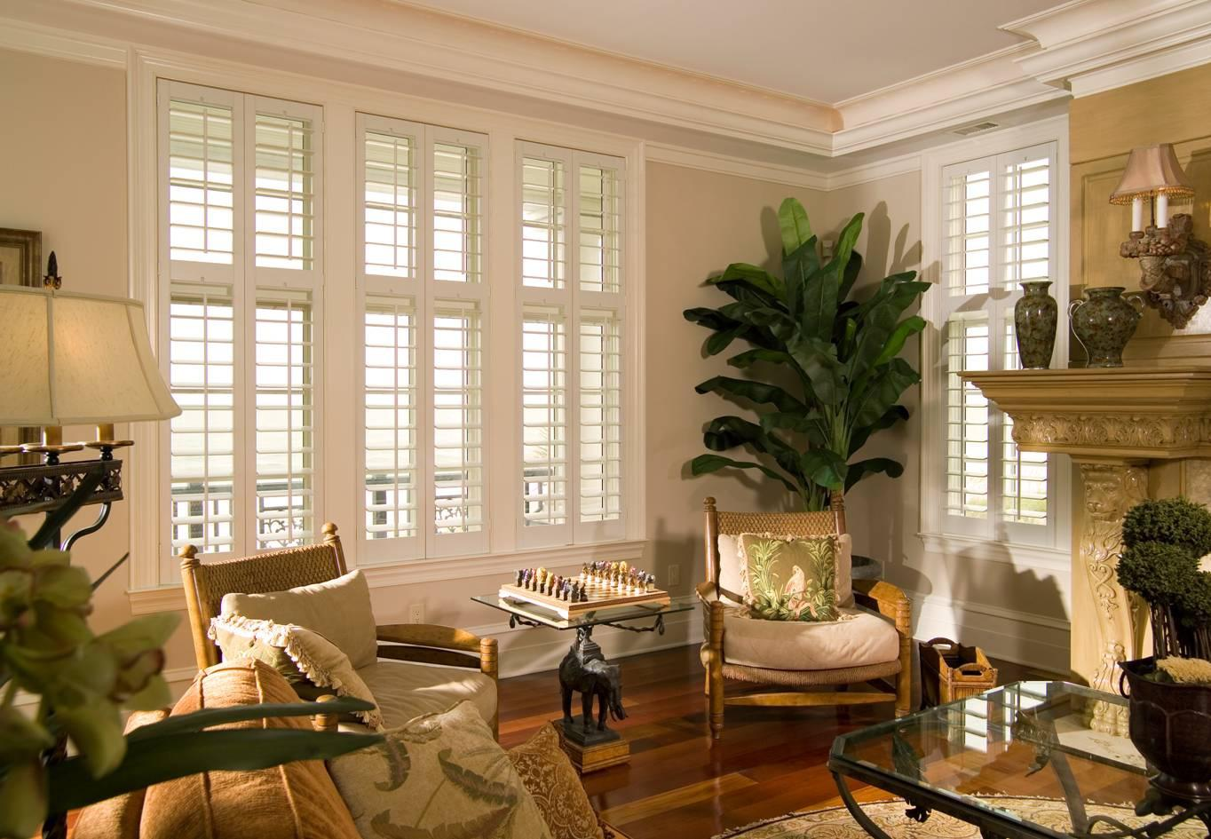 Plantation shutters for traditional-styled homes