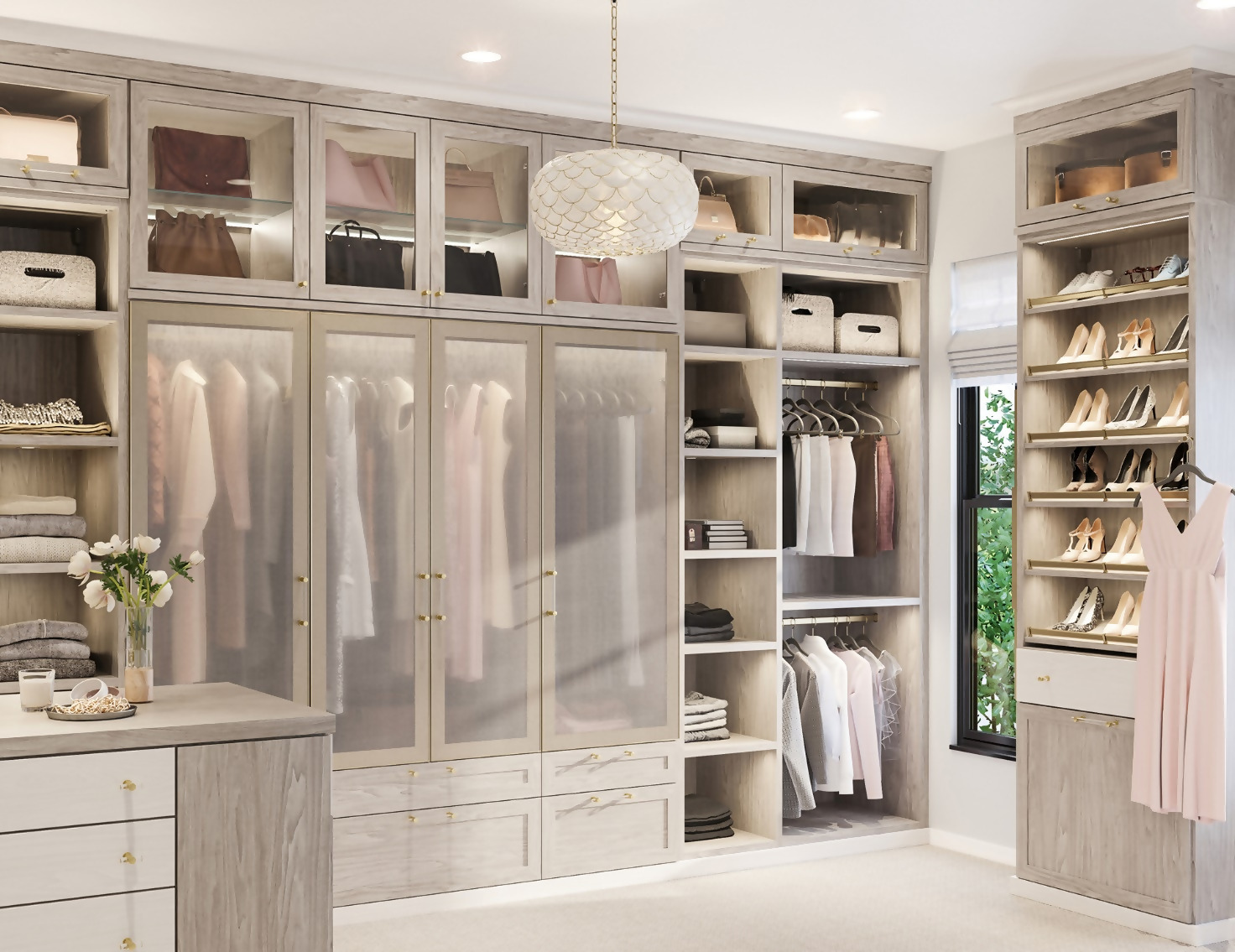 Walk-In Closet In A Larger Room