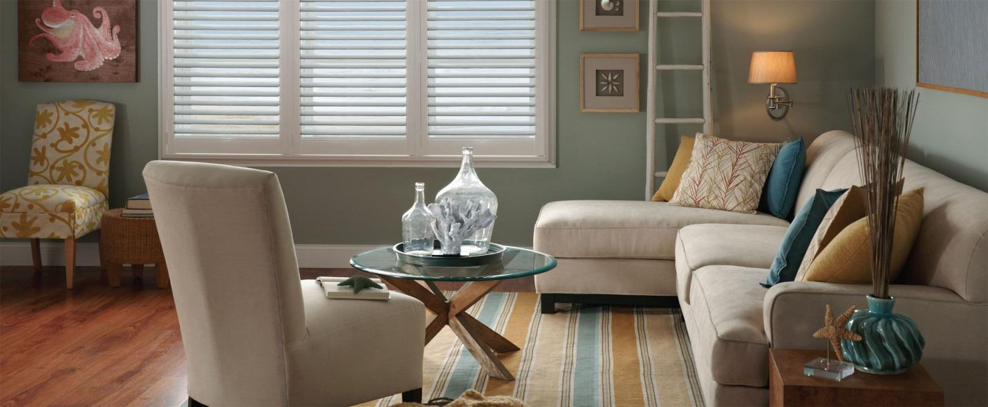 Plantation shutters for modern interiors