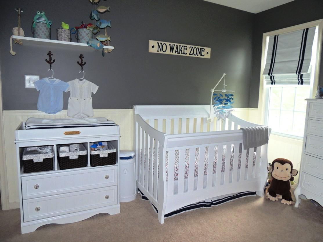 Modern Blue Blinds For Boy Nursery