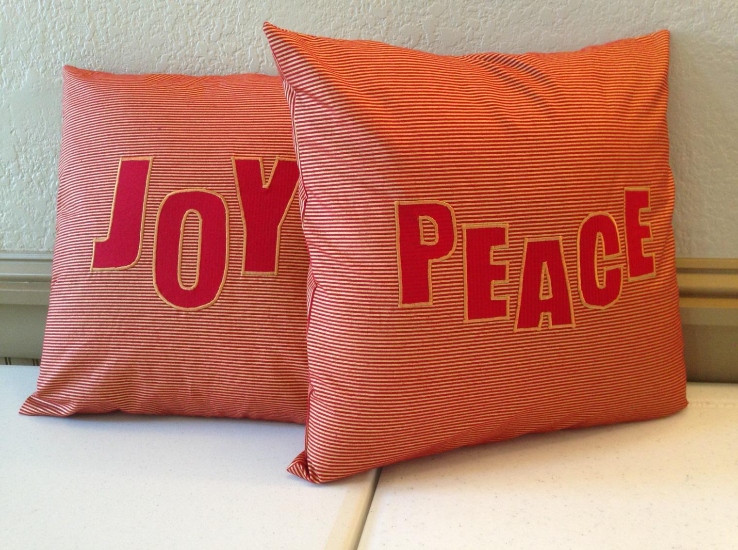 DIY decorative pillows with religious motifs