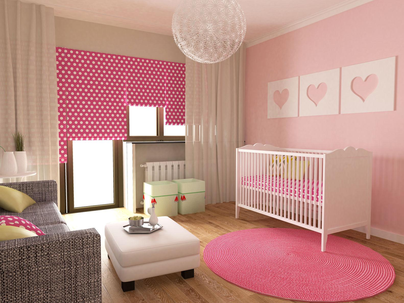 modern pink blinds for girl nursery - Blinds For Baby Room