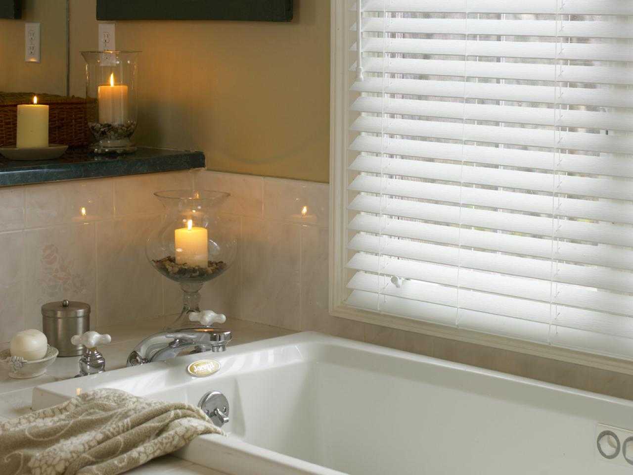 Wood window treatments interior design explained for What type of blinds for bathroom