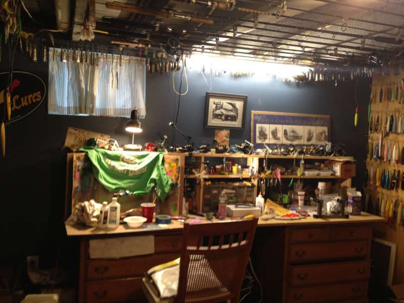 Elements of a fishing tackle room