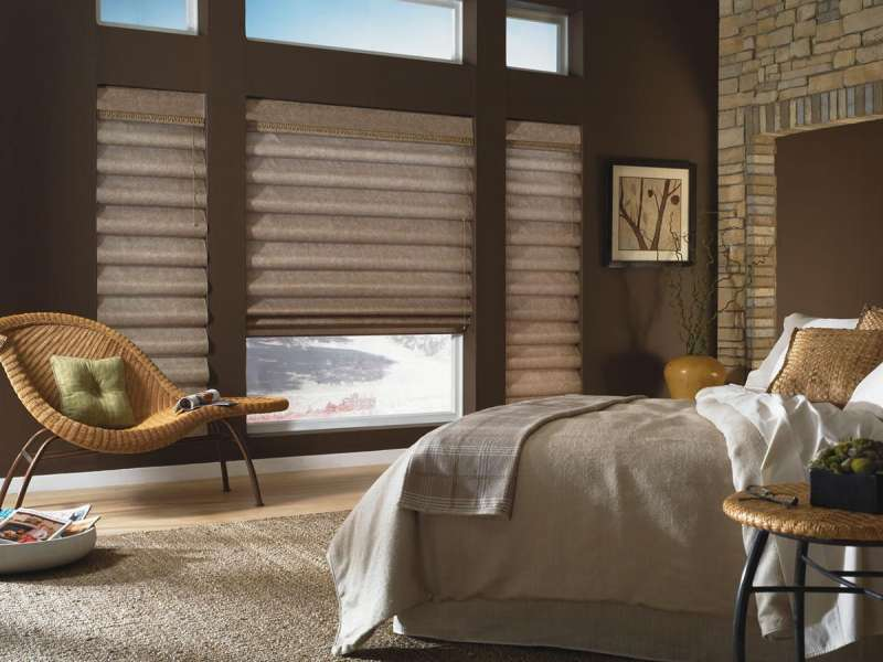 Create a peaceful ambient with Roman shades